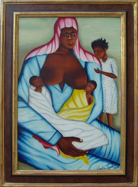 Castera_Bazile_Mother_with_Twins_1952